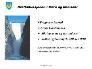 Prognoser forbruk  Arena Gardermoen   Sikring av ny og eks. industri