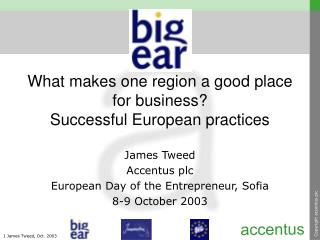 What makes one region a good place for business? Successful European practices