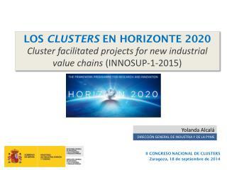 II CONGRESO NACIONAL DE CLUSTERS  Zaragoza, 18 de septiembre de 2014