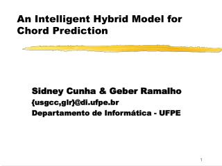 An Intelligent Hybrid Model for Chord Prediction