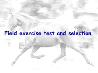 Field exercise test and selection
