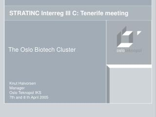 STRATINC Interreg III C: Tenerife meeting
