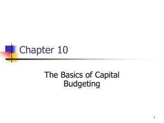 Basics of Capital