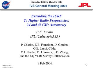IVS General Meeting 2004