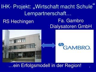 """IHK- Projekt:  """" Wirtschaft macht Schule """" Lernpartnerschaft…"""
