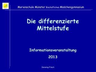 Marienschule M�nster  Bisch�fliches  M�dchengymnasium