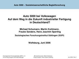 Auto 5000 – Sozialwissenschaftliche Begleitforschung