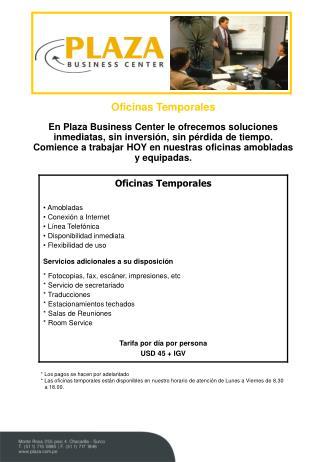 Oficinas Temporales