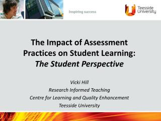 The Impact of Assessment Practices on Student Learning: The Student Perspective