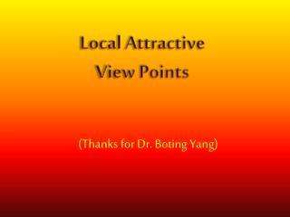 (Thanks for Dr. Boting Yang)
