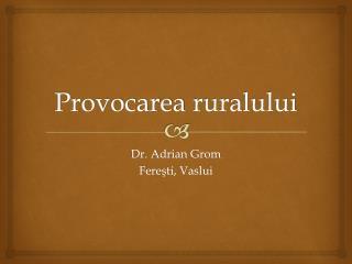 Provocarea ruralului