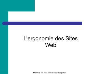 M2 TIC & TID 2004-2005 IAE de Montpellier