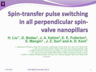 Spin-transfer pulse switching in all perpendicular spin-valve  nanopillars