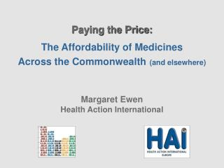 Paying the Price: The Affordability of Medicines  Across the Commonwealth (and elsewhere)