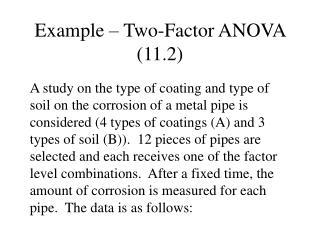 Example – Two-Factor ANOVA (11.2)