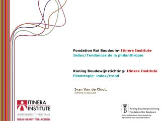 Koning Boudewijnstichting- Itinera Institute Filantropie- index/trend