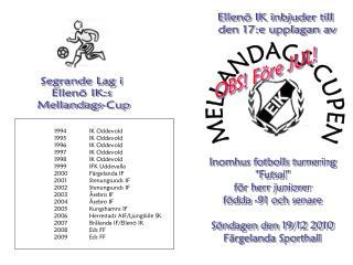 1994IK Oddevold 1995IK Oddevold 1996IK Oddevold 1997IK Oddevold 1998 IK Oddevold