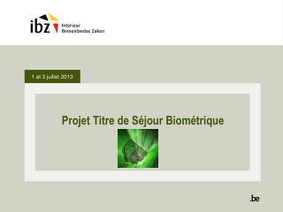 Projet Titre  de  S éjour Biométrique