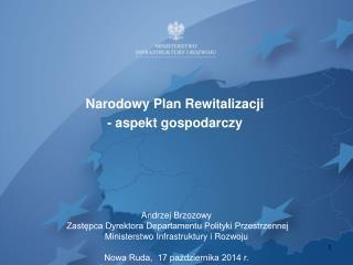 Narodowy Plan Rewitalizacji  - aspekt gospodarczy