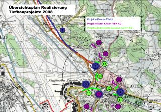 Übersichtsplan Realisierung Tiefbauprojekte 2008