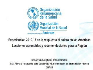 Casos acumulados de Cólera  Región de las Américas septiembre del 2013