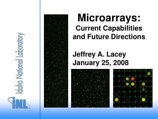 Microarrays:  Current Capabilities and Future Directions