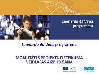 Leonardo da Vin c i programma