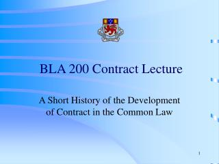 BLA 200 Contract Lecture