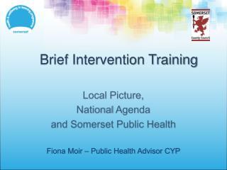 Brief Intervention Training
