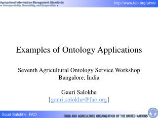 Examples of Ontology Applications