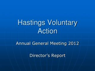 Hastings Voluntary Action