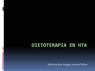 DIETOTERAPIA EN HTA