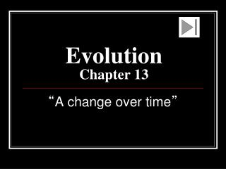 Evolution Chapter 13
