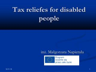 Tax reliefes for disabled people