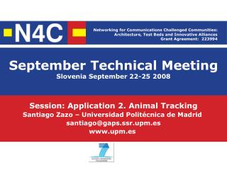 September Technical Meeting Slovenia September 22-25 2008