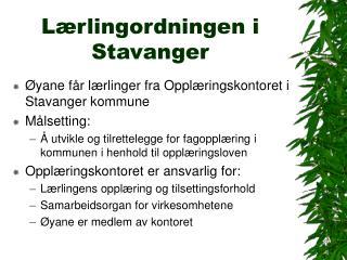 L�rlingordningen i Stavanger