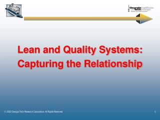 Lean and Quality Systems: Capturing the Relationship