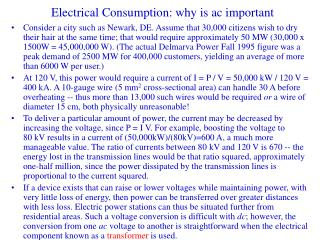 Electrical Consumption: why is ac important