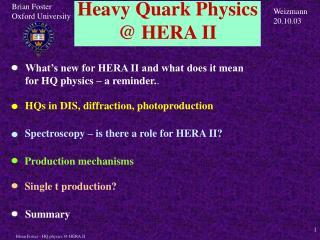 Heavy Quark Physics @ HERA II