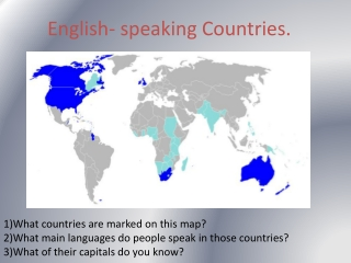 English-speaking countries: