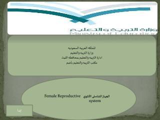الجهاز  التنا سلى  الأنثوي    Female Reproductive system