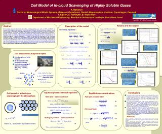 Cell Model of In-cloud Scavenging of Highly Soluble Gases