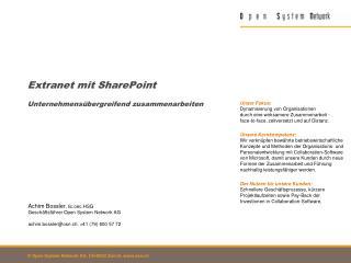 Extranet mit SharePoint Unternehmensübergreifend zusammenarbeiten