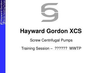 Hayward Gordon XCS