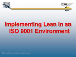 Implementing Lean in an ISO 9001 Environment