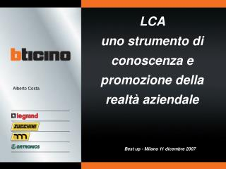 LCA  uno strumento di conoscenza e promozione della realtà aziendale