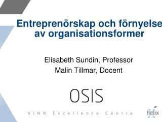 Entreprenörskap och förnyelse av organisationsformer