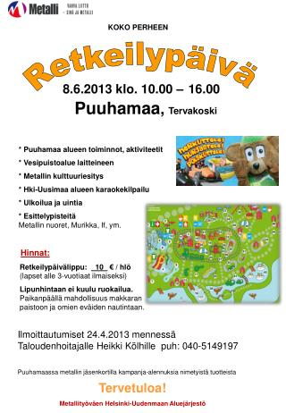 8.6.2013 klo. 10.00 – 16.00
