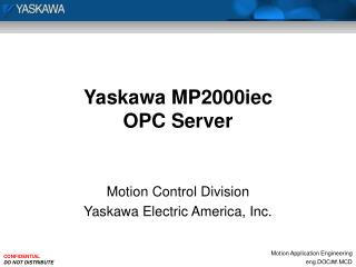 Yaskawa MP2000iec OPC Server