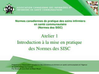 Normes canadiennes de pratique des soins infirmiers  en sant� communautaire   (Normes des SISC)